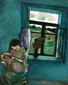 Bella and Ida by the Window, Marc Chagall. At least its says its by Chagall. But I'm no art historian. Marc Chagall, Artist Chagall, Pablo Picasso, Art And Illustration, Chagall Paintings, Ouvrages D'art, Oil Painting Reproductions, Fine Art, Henri Matisse