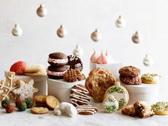 Brand-New Holiday Cookies : Food Network Test Kitchen and the stars of The Kitchen — Katie Lee, Marcela Valladolid, Jeff Mauro, Geoffrey Zakarian and Sunny Anderson — share their favorite holiday cookie recipes. 'Tis the season for baking up your favorite batch.