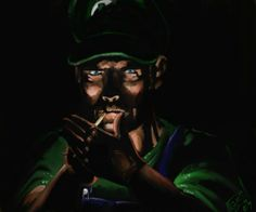 Reinterpretations of classic characters.  A Luigi you wouldn't want to meet in a dark alley.