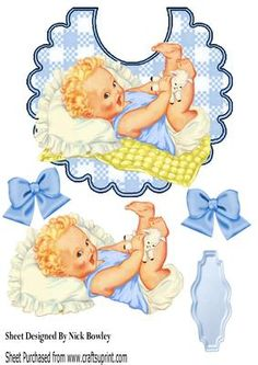 Smile baby boy for your pic on a bib A4 on Craftsuprint - Add To Basket!