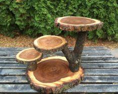 Large Log Doug Fir Wood Rustic Cake Cupcake Stand Wedding | Etsy