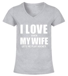 "# Love My Wife she lets me play Hockey Funny T-shirt Player .  Special Offer, not available in shops      Comes in a variety of styles and colours      Buy yours now before it is too late!      Secured payment via Visa / Mastercard / Amex / PayPal      How to place an order            Choose the model from the drop-down menu      Click on ""Buy it now""      Choose the size and the quantity      Add your delivery address and bank details      And that's it!      Tags: Ideal t-shirt for…"