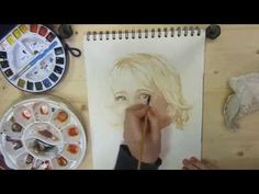 Portrait in Watercolor Demo Part 1 of 2 - YouTube