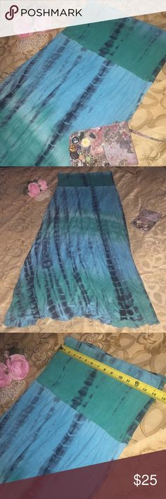 SPRING SALE 🌹 Pretty Tie-Dye Maxi or Tube Dress🌹 Tie-Dye Skirt that can also be used as a tube dress!!  Measurements provided in pictures.  🌹Size: Medium 🌹Color: Shades of Green and Black 🌹Material: 95% Rayon, 5% Spandex 🌹Condition: Pre-loved; In Good Condition!  🌹CHECK OUT MY OTHER LISTINGS FOR GREAT FINDS! Skirts