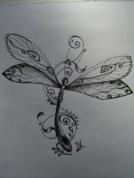 Idea for tattoo: A dragonfly symbolizes Maturity, positive forces, power of life, good luck, prosperity, speed, peace, purity and harmony.