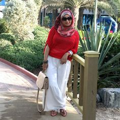 beach inspired outfit modest hijabi