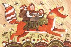 Autumn Fox, by Daria Gerasimova. Her work is wonderful!