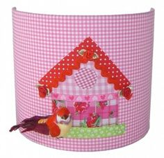 Wandlamp vogelhuisje roze | Wandlampen | Boefjesfabriek