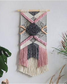 Ideas Wall Tapestry Woven Fiber Art For 2019 Weaving Wall Hanging, Weaving Art, Tapestry Weaving, Loom Weaving, Wall Tapestry, Hand Weaving, Wall Hangings, Wall Hanging Decor, Art Fil