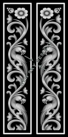 stl File Size :- 13 MB (Autocad view in last blue colour image) Wooden Front Door Design, Double Door Design, Wood Carving Designs, Stencil Designs, Glass Design, 3d Design, Glass Etching Designs, Alpha Art, Ornamental Vector