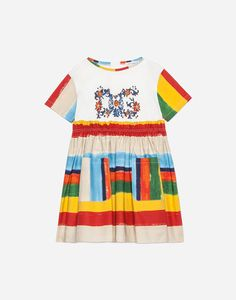 29fff4f7085 ABITO IN COTONE STAMPATO Cotton Dresses Online, Poplin, Printed Cotton, New  Dress,
