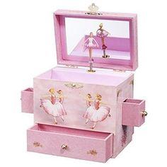 Enchantmints Pink Princess Music Girls Ballerina Musical Organizer Jewelry Box #Enchantmints