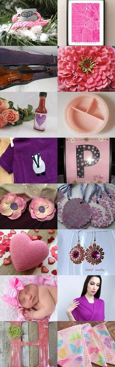 DAT Team Turns Up Pink and Purple by Laura L Olinger on Etsy--Pinned with TreasuryPin.com