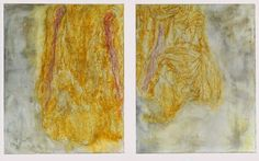 Bill Jensen: Painting is a prayer--double stillness ~2014 oil on linen, diptych, 50 x 86 inches