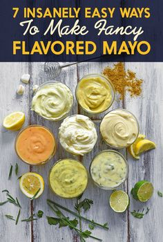7 Of The Most Delicious Things You Can Do To Mayonnaise curry mayo Herb Aioli Spicy Mayonnaise Garlic Aioli Scallion-Lime Mayonnaise Miso Mayo Homemade Mayonnaise, Homemade Sauce, Spicy Mayonnaise Recipe, Homemade Seasonings, How To Make Mayonnaise, Homemade Food, Side Dishes, Burger Recipes, Healthy Recipes