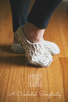 Make these cozy crochet slippers with Lion Brand Vanna's Choice! Makes a great gift!