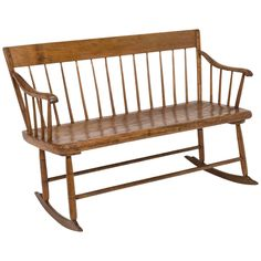 Early American Primitive Rocking Bench