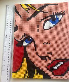 Hama Beads Lichtenstein Girl by MadebyBlackSheep on Etsy