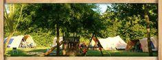 Kamperen op ruimte velden met speeltuinen op Camping de Watermolen.