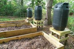 DIY water collecting barrels for your gardens