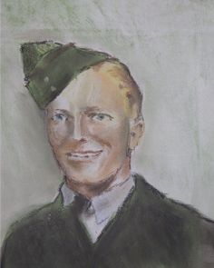 pastel drawing of my great, great Uncle in his WW2 RAAF uniform