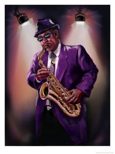 Solid-Faced Canvas Print Wall Art Print entitled Illustration of jazz musician playing saxophone Cheap Canvas Art, Cheap Wall Art, Art Paintings For Sale, Oil Painting For Sale, Wall Art Prints, Poster Prints, Posters, African Wall Art, Saxophone Players
