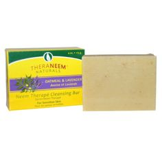 Organix South, TheraNeem Naturals, Neem Therapy Cleansing Bar, Oatmeal