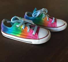 Tie Dye Rainbow Converse Kids Sneakers Size 10 Youth by nysnoopy on Etsy https://www.etsy.com/listing/237927590/tie-dye-rainbow-converse-kids-sneakers