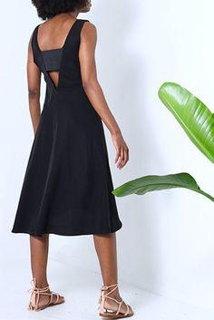 Natalie  Busby Black A-Line Dress