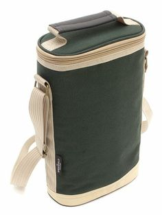 Duo Wine Cooler Bag In Forest Green from Picnicware.co.uk #picnic #wine #cooler #coolbag
