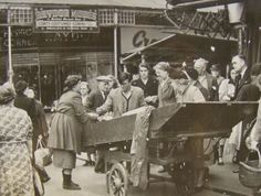 Brixton Market, 1952 - born and bred here :) My Family History, Local History, Vintage London, Old London, Brixton Market, London Market, Vintage Photographs, Vintage Photos, London History