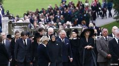 Chatsworth funeral for Dowager Duchess of Devonshire Prince Charles and Camilla were among the mourners