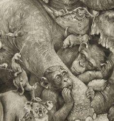 """Картина """"Слоны"""". (Adonna Khare)"""