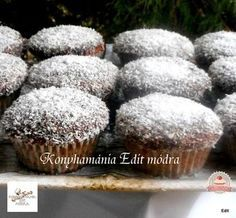 Kókuszkocka muffin Diabetic Recipes, Diet Recipes, Healthy Recipes, Filipino Desserts, Hungarian Recipes, Cookie Recipes, Cupcake, Food And Drink, Snacks