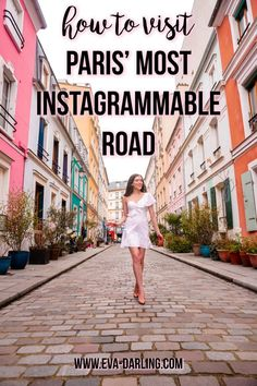 NYC based travel blogger Eva Phan of Eva Darling on how to visit Rue Cremieux in Paris, France. How cute are these colorful houses?! instagrammable instagram worthy road travel guide photo location paris where to go photoshoot bright colored houses feminine style PINTEREST: @eva_darling Paris France Travel, Paris Travel Guide, Travel Europe, Best Instagram Photos, Instagram Worthy, Travel Alone, Photo Location, Colorful Houses, Where To Go