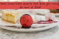 Sweet Escape-Sinful desserts for pure indulgence at Zora! Address: Ishanya Mall Road, Maharashtra Housing Board, Shastrinagar, Yerwada, Pune. Contact: 8928491947 #Food #Restaurants #Desserts #NonVeg #Zora #CityShorPune