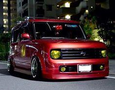 Cube Car, Toasters, Slammed, Custom Cars, Cubes, Nissan, Wheels, Trucks, City