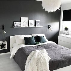 Bedroom Design Ideas Budget Grey And White Bedroom Ideas 2020 # Home Decor Bedroom, White Bedroom, Modern Bedroom Decor, Awesome Bedrooms, Minimalist Bedroom, Bedroom Inspirations, Bedroom Design, Home Bedroom, Modern Bedroom