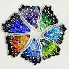 "DEBBIE SHEEZEL ""Kaleidoscope"" #enamel #jewellerydesign #necklaces #brooches #colour #silver #handmade"