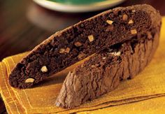 Brownie Biscotti made with Ghirardelli Triple Chocolate Brownie Mix