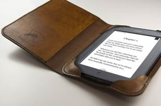 Leather iPad Mini 3 Cover / Leather Kindle Cover / by HANDandHIDE