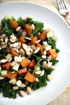 Maple Butternut Squash and Kale Salad | POPSUGAR Fitness