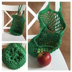It is so green . A little guide to crochet mesh pockets It is so green . A little guide to crochet mesh pockets Always wanted to discover ways to knit, nonetheless undecided . Loom Knitting, Knitting Patterns, Crochet Patterns, Bead Crochet, Filet Crochet, Knitting Projects, Crochet Projects, Diy Handbag, Diy Purse