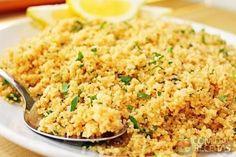 Receita de Cuscuz marroquino com caldo de legumes em receitas de salgados, veja essa e outras receitas aqui!