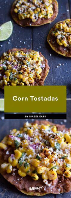 2. Corn Tostadas #greatist https://greatist.com/eat/vegetarian-dinners-in-15-minutes-or-less