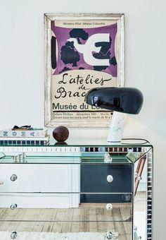 Art deco-inspireret spejlkommode fra 50'erne