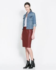 Zara - a touch of color for fall, love the whole look