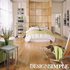 Light and bright modern bedroom.   Beautiful Design Made Simple - http://beautifuldesignmadesimple.com/2013/10/22/wine-inspired-decor/