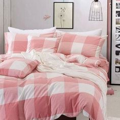 100% Washable Cotton Bedding Set Bedcover Sets Plaid Duvet Cover