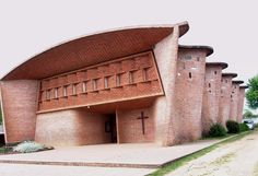 Church in Atlantida  - Eladio Dieste, the Uruguayan architect and engineer, used the Gaussian Vault in this church.  This is a thin shell structure constructed in single thickness of brick. It achieves its strength from double curvature catenary arch form that resists buckling failure.